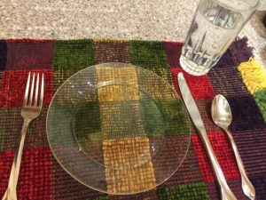 empty plate and water glass