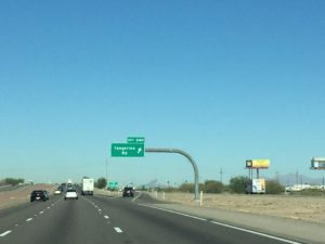 Tangerine Rd Freeway exit sign