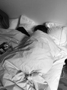 sleeper in bed
